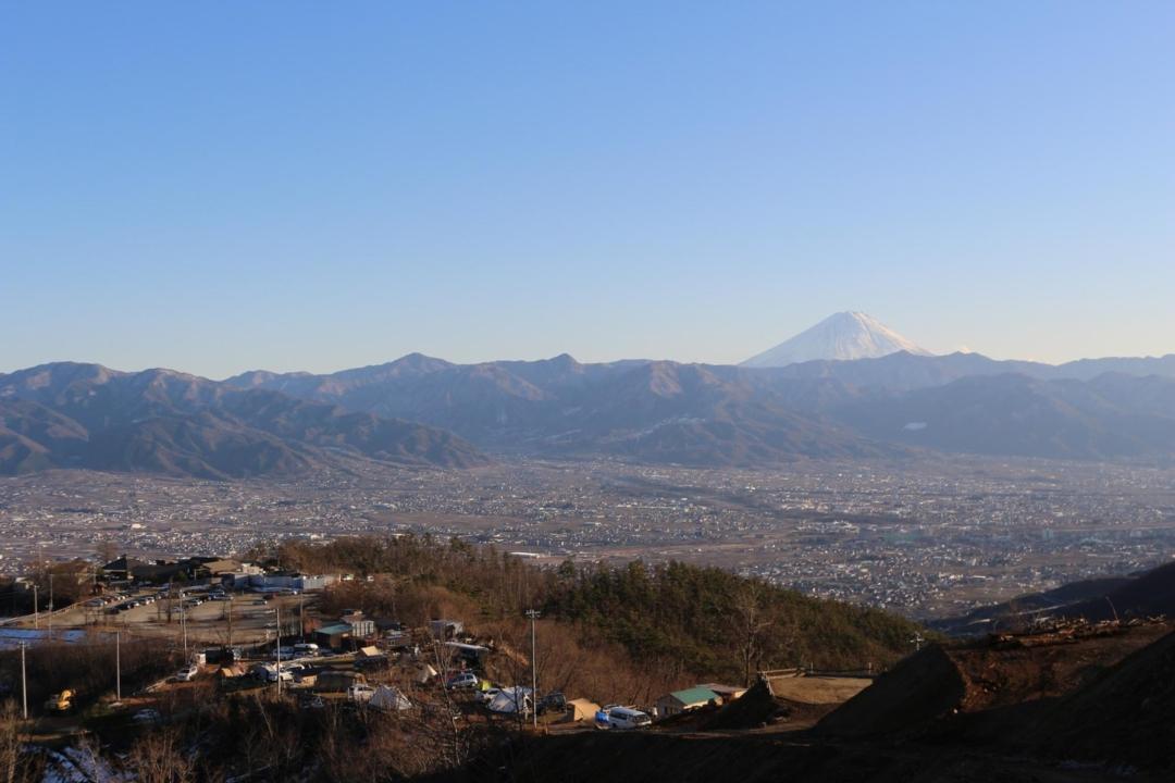 ほったらかしキャンプ場から見える富士山と景色