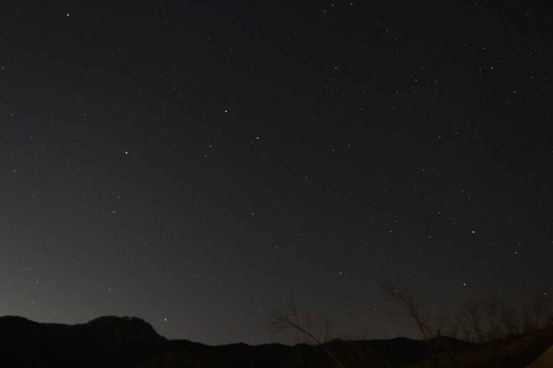 ほったらかしキャンプ場の星空