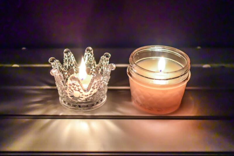 キャンプで灯した手作りキャンドル