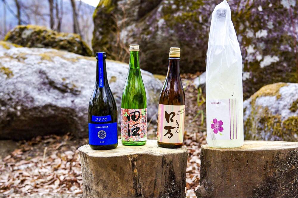 キャンプと日本酒のマリアージュ