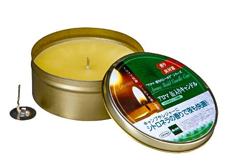 ロゴス-アロマ缶入りキャンドル