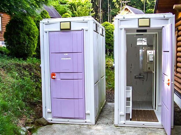 乙女森林公園第2キャンプ場の簡易シャワー