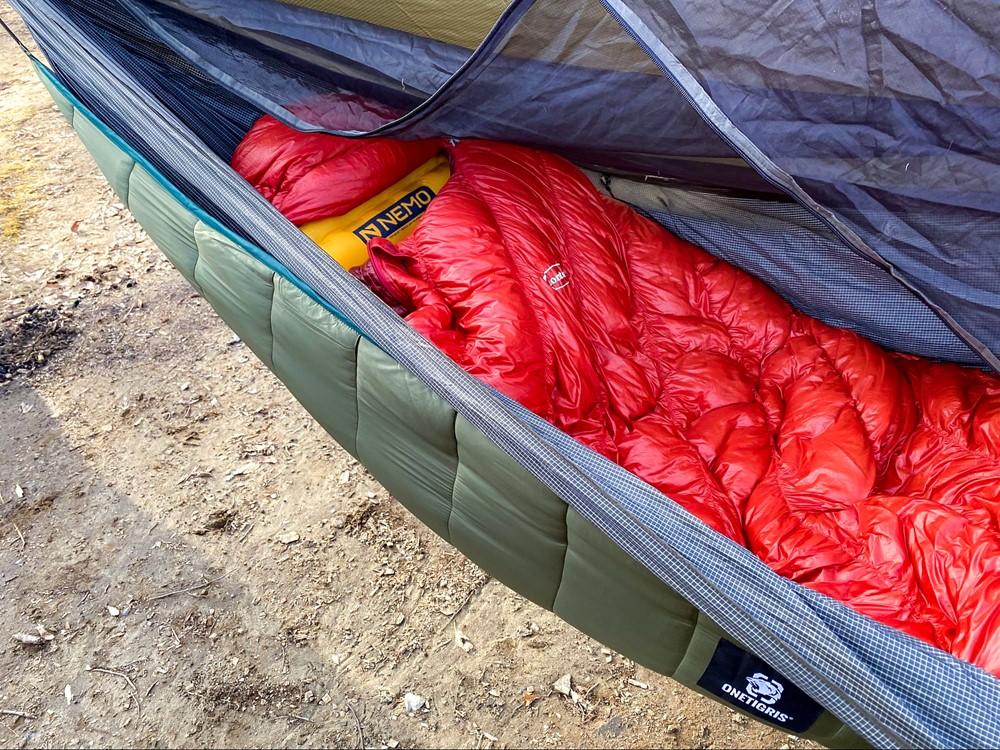 冬のハンモック泊の防寒対策