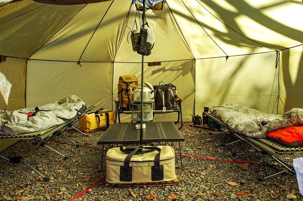 冬キャンプの寝室レイアウト