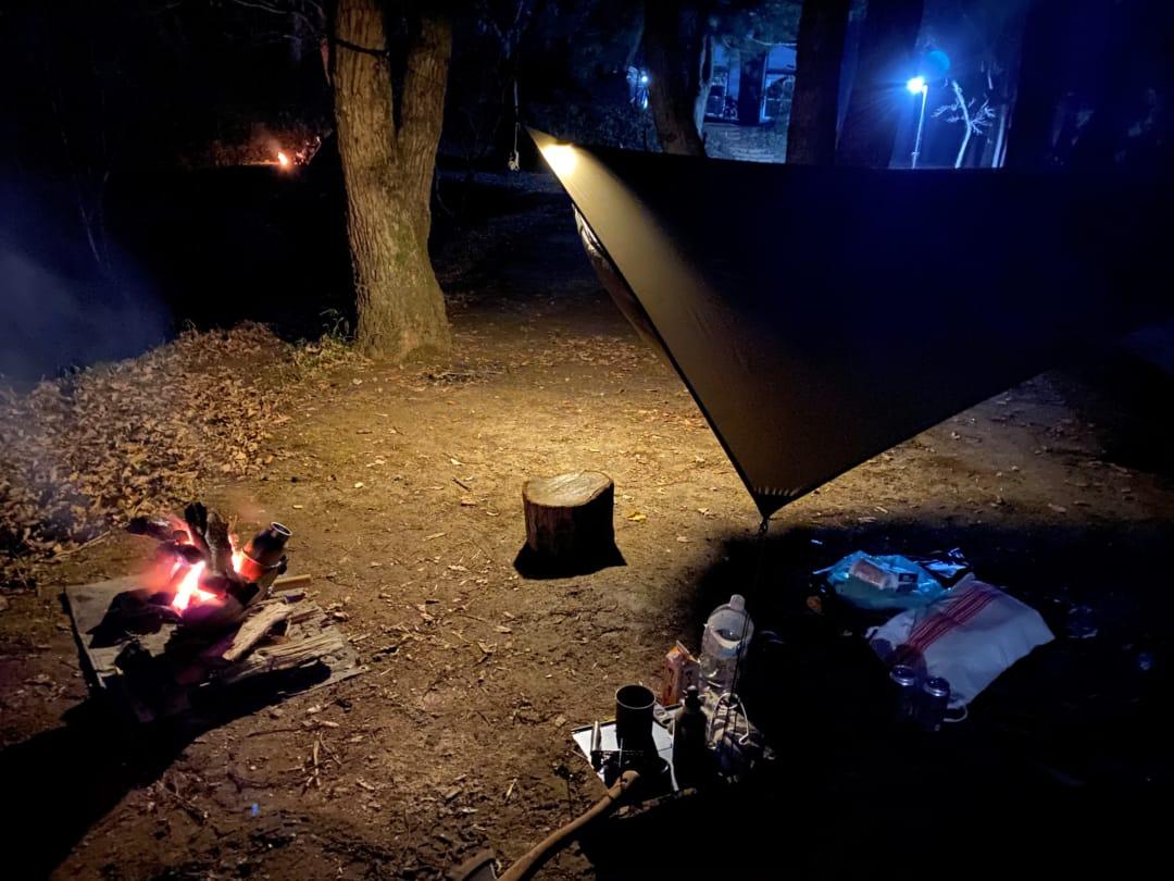 勝古沢キャンプ場の夜