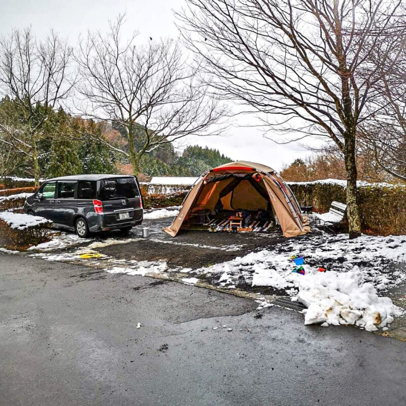 大型テントは6番サイトがおすすめ