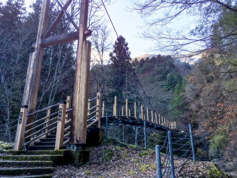 大柳川渓流公園にある吊り橋