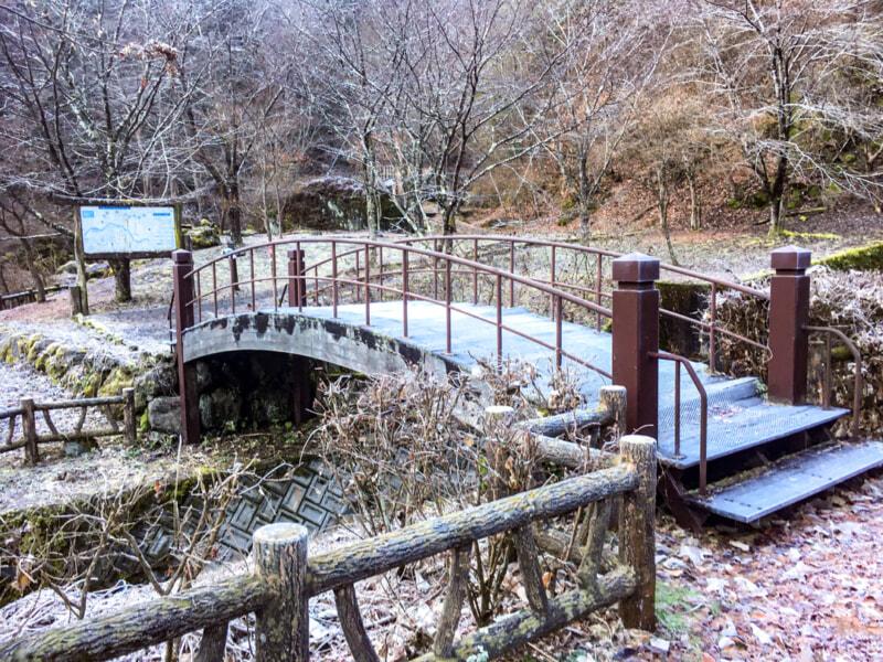 大柳川渓流公園キャンプ場入口