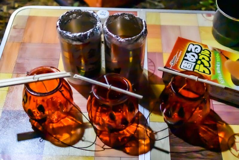 廃油キャンドル作りの材料