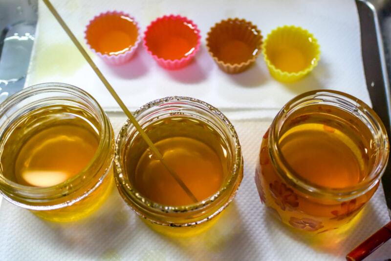 廃油キャンドル作りは油の温度が重要