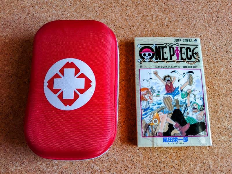 携帯用救急キットの大きさ比較