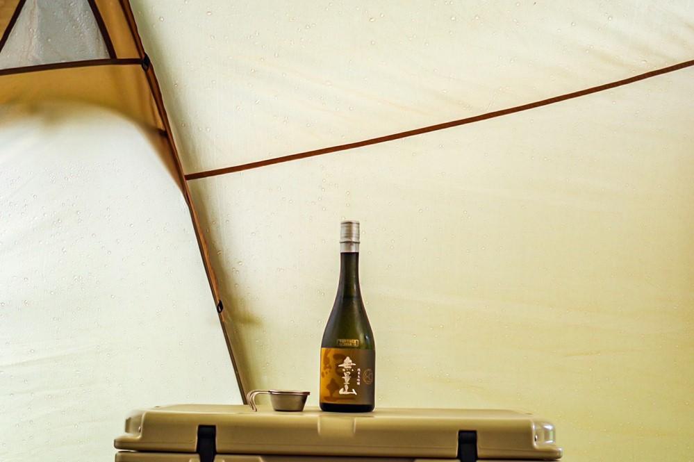 日本酒はかさ張らないのでキャンプにおすすめ