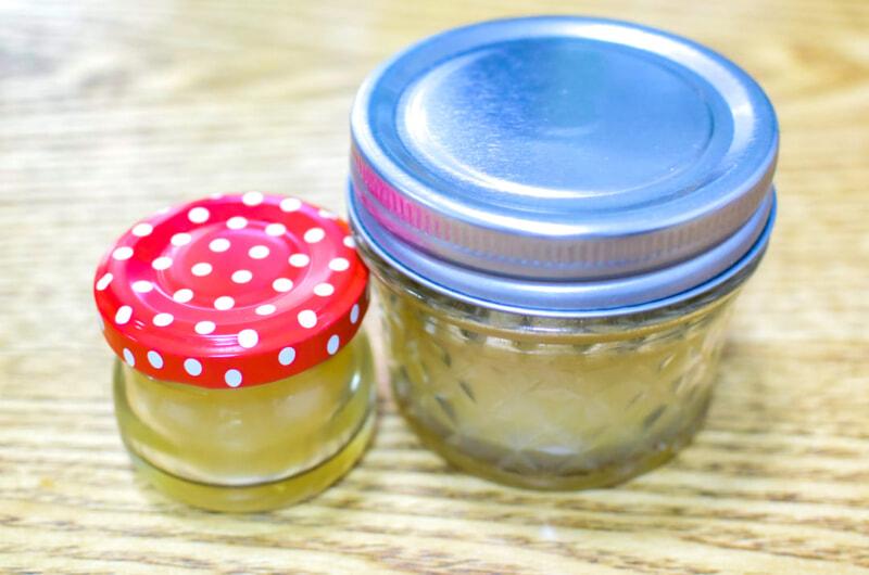 蓋つきの瓶で作った廃油キャンドル