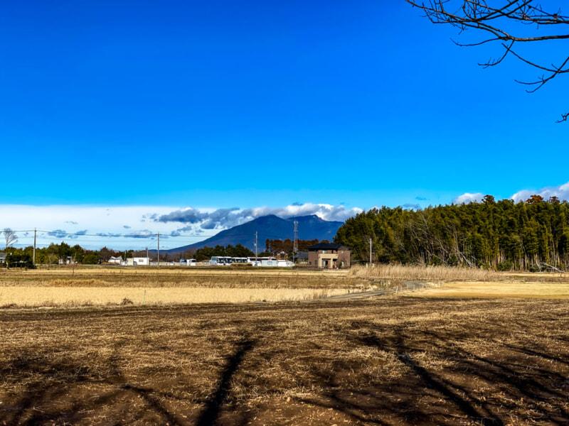 豊里ゆかりの森から眺める筑波山