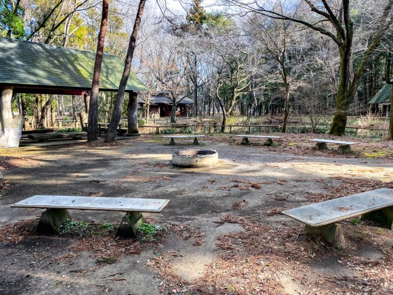 豊里ゆかりの森のキャンプファイアー場