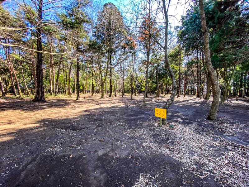 豊里ゆかりの森のテントサイト2