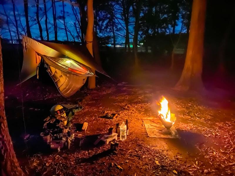 豊里ゆかりの森キャンプ場でソロキャンプ