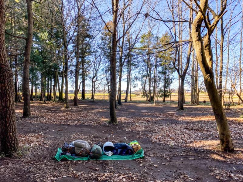 豊里ゆかりの森キャンプ場でハンモック泊してみる