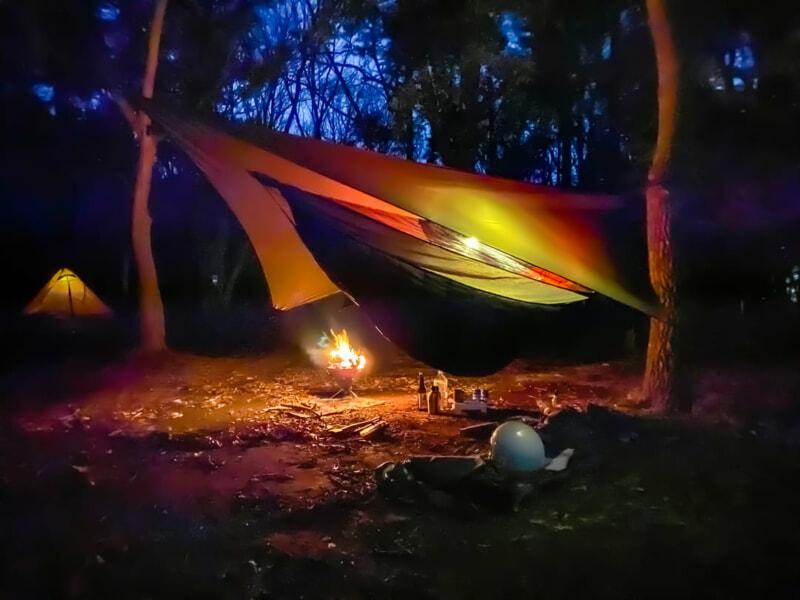 豊里ゆかりの森キャンプ場の夜