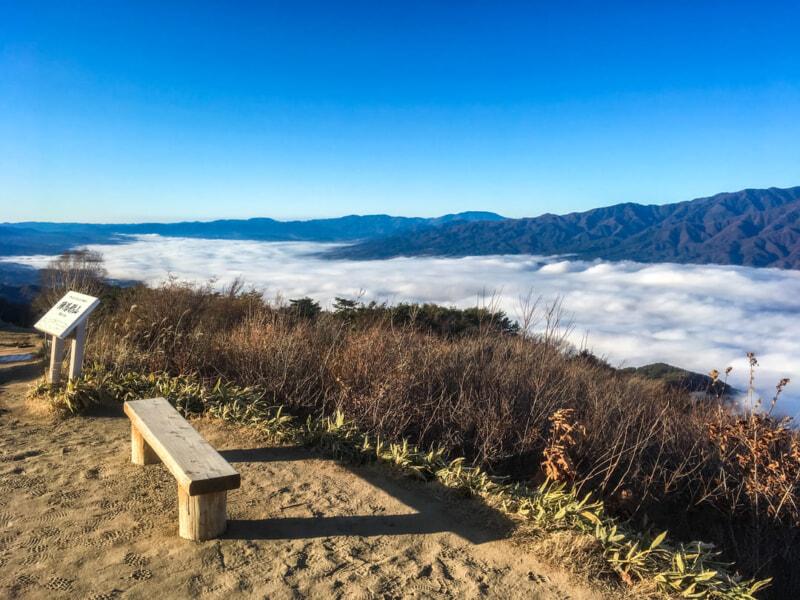 陣馬形山キャンプ場に広がる雲海