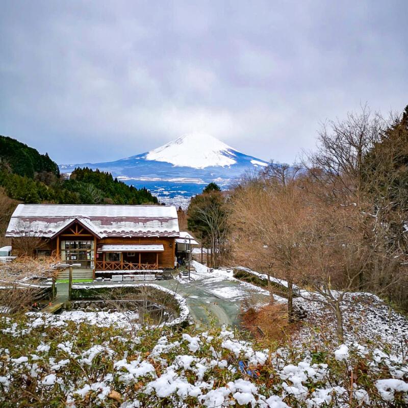 6番サイトからの富士山の眺め