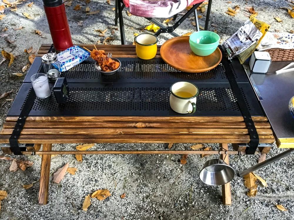DIYした自作テーブル