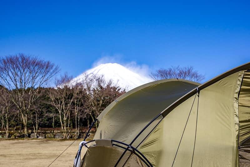 やまぼうしオートキャンプ場から一望できる富士山