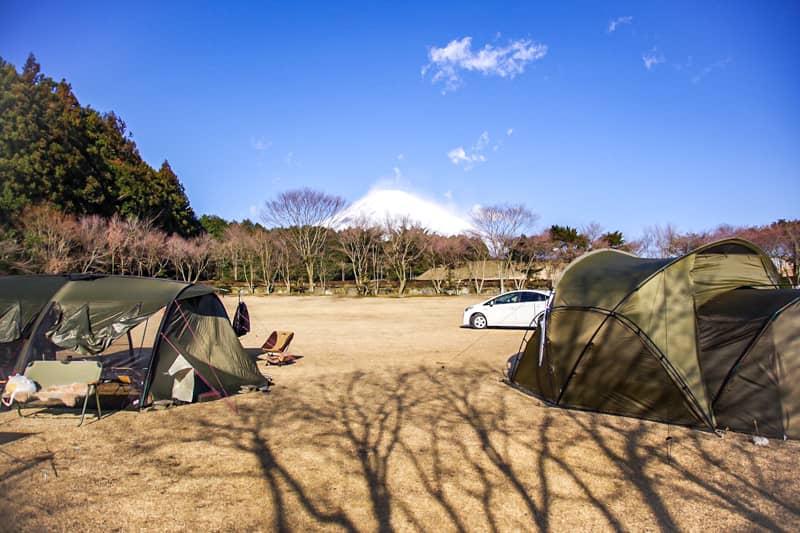 やまぼうしオートキャンプ場で一番富士山が見えるサイト