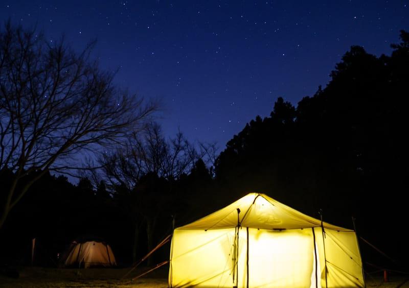 やまぼうしオートキャンプ場の星空