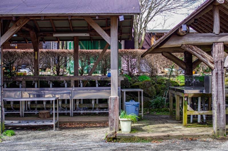 やまぼうしオートキャンプ場の炊事場全景