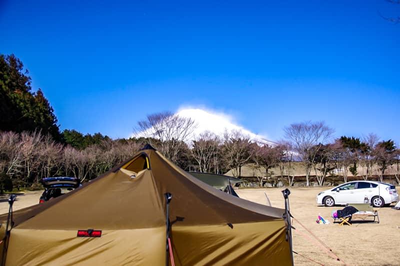 やまぼうしオートキャンプ場サイトBからの景色