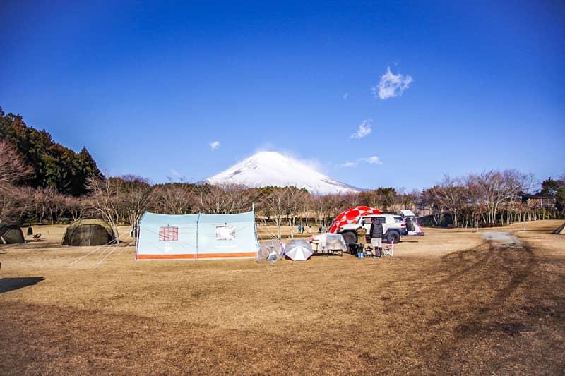 やまぼうしオートキャンプ場サイトCからの景色