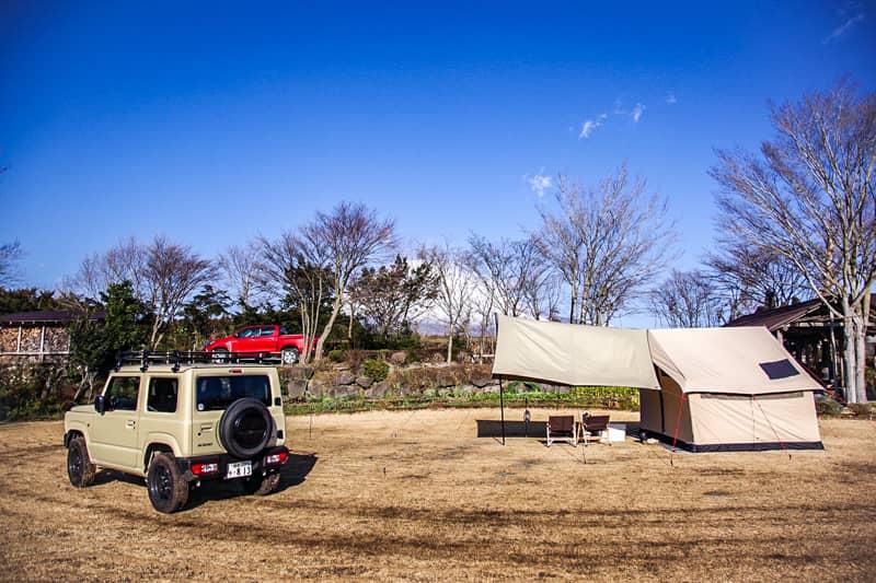 やまぼうしオートキャンプ場サイトDからの景色