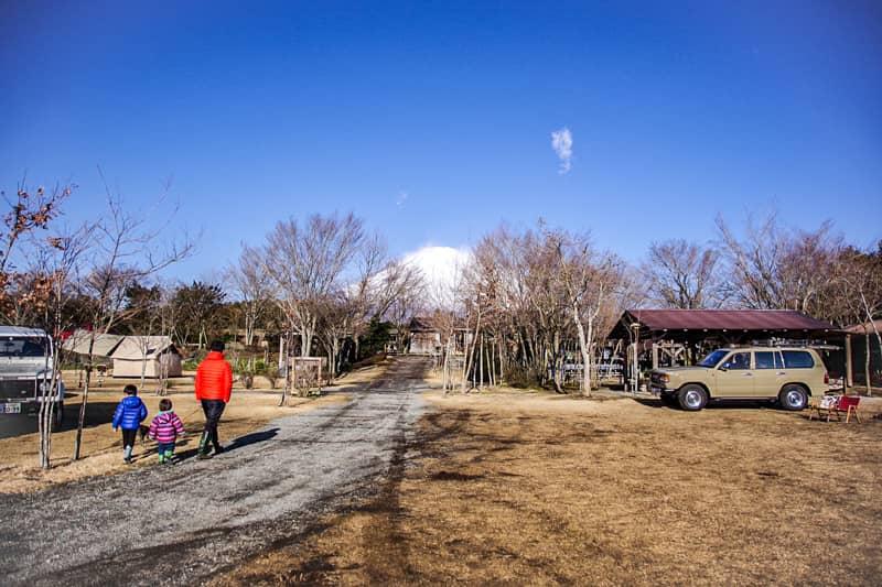 やまぼうしオートキャンプ場サイトEからの景色