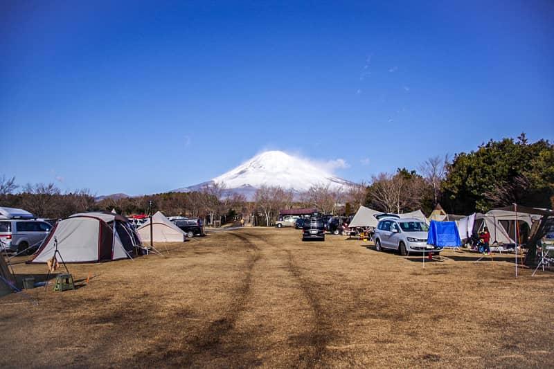 やまぼうしオートキャンプ場サイトFからの景色