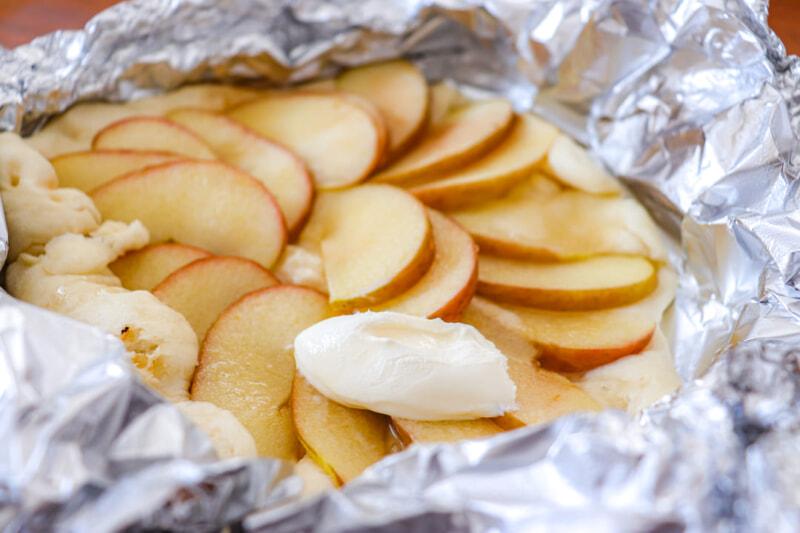 りんごで作る手作りデザートピザ