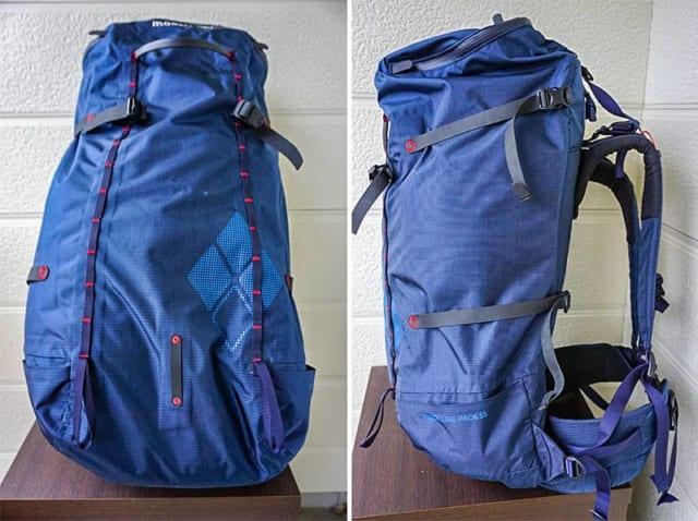 モンベルのリッジラインパック55をテント泊で使用してみた感想と製品レビュー