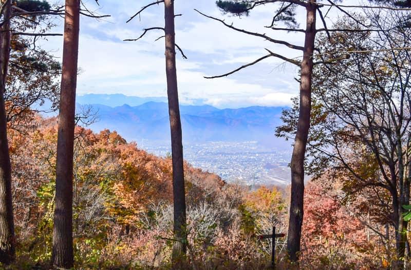 市民の森キャンプ場からの眺望