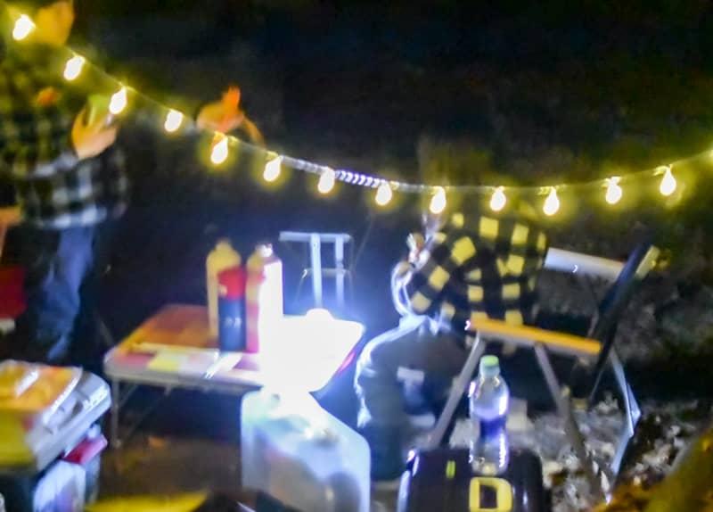 市民の森キャンプ場の夜