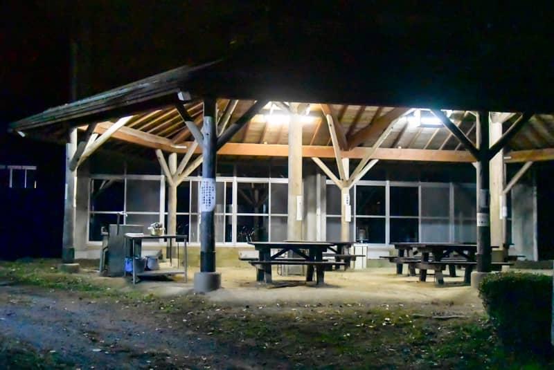 市民の森キャンプ場の炊事場