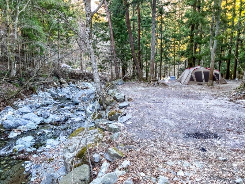 椿荘オートキャンプ場のサイト紹介