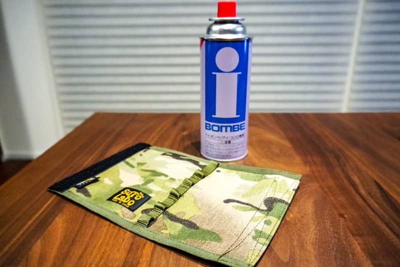 CB缶とSotoLaboのガスカートリッジカバー