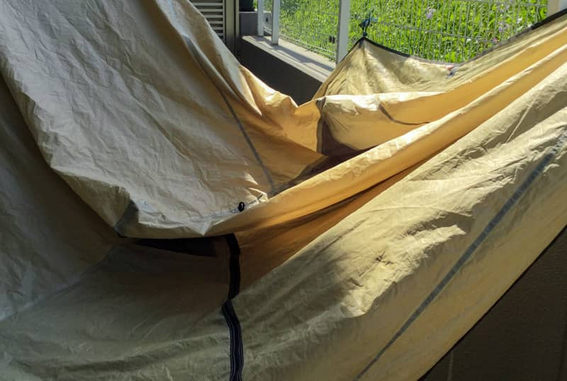 テントを干します
