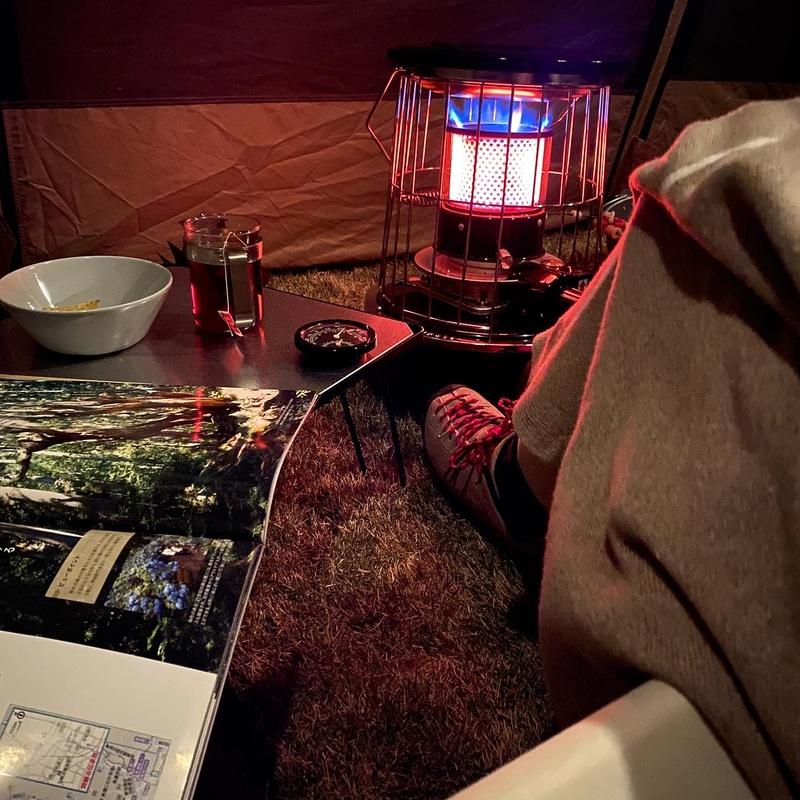 冬の庭キャンプ