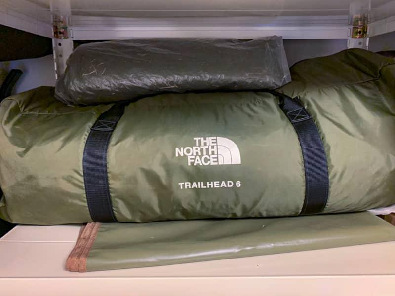 基本テントは室内に保管する