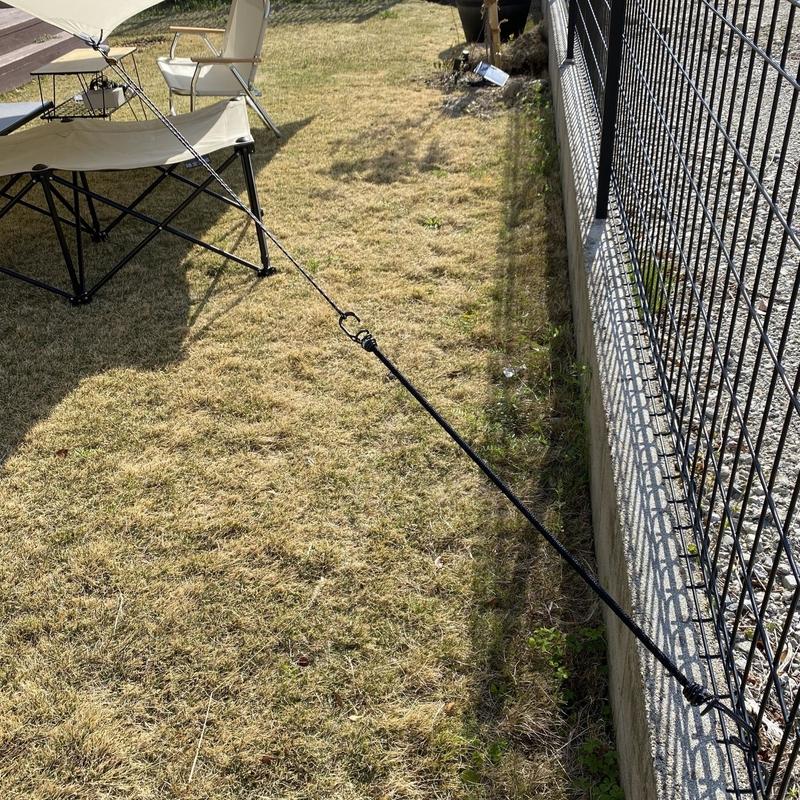 庭にタープを張るときの裏技