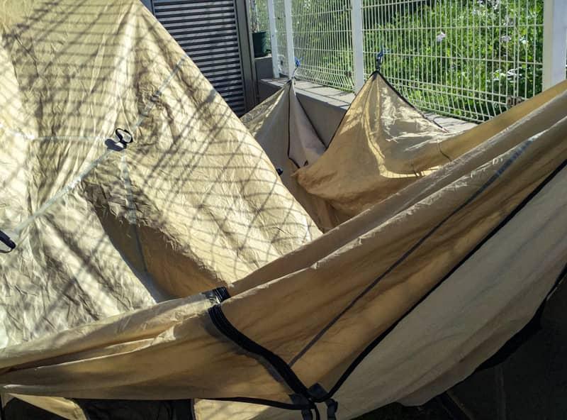 濡れたテントのメンテナンス