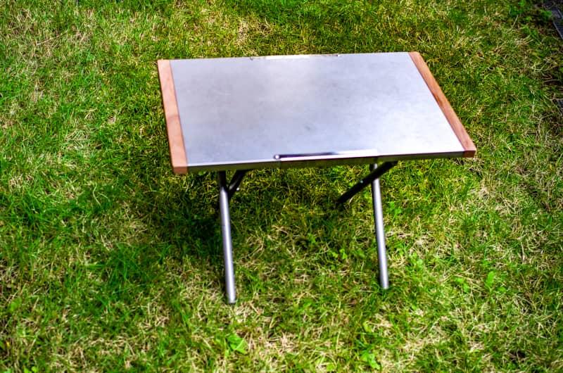 焚き火テーブルが2段テーブルに大変身