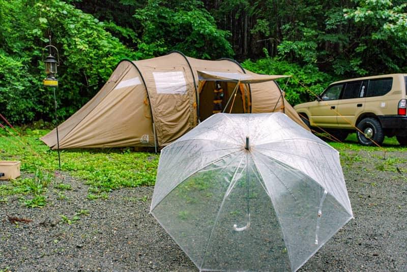 突然の雨に備えて心のゆとりを持った撤収を