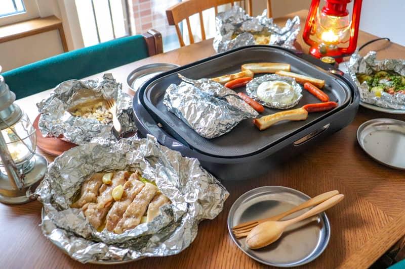 自宅キャンプ料理-1